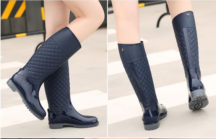 Bottes La Us bleu 5 Noir Étanche Dames Vichy Pluie Taille 6 9 5 De Mode Femmes nwP0O8ZNkX