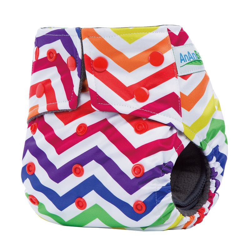 Reusable Waterproof Baby Cloth Diapers Cover With 4 Layer Charcoal Inserts& Double Gussets Bamboo Charcoal Diaper HA022