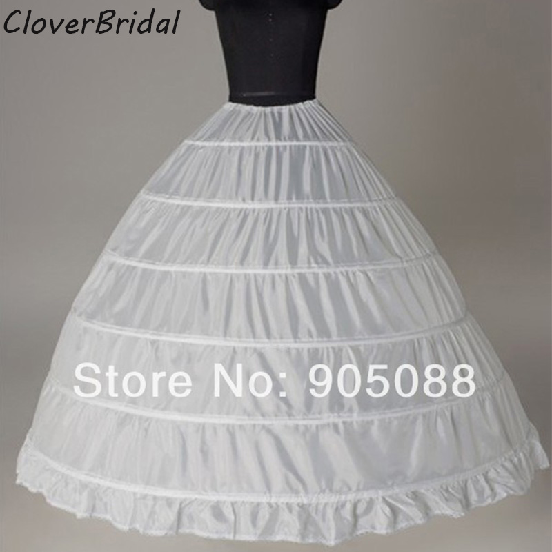 Fast Shipping High Quality 6 Hoops Crinoline Underskirt Petticoat For Wedding Dress Bridal Gown Accessories In Stock
