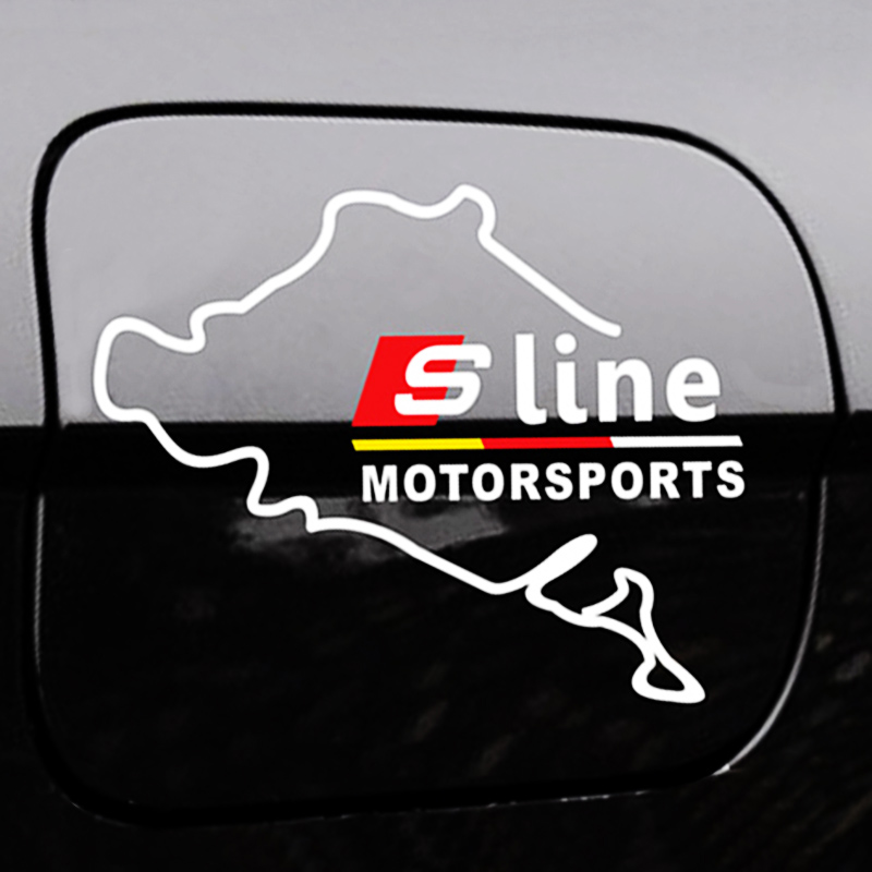 Слайн s линии логотип стикер для Audi А3 А4 А5 А6 В3 В5 В7 В7 В8 С5 С6 газа топливного бака Крышка окно бампер стекло двери наклейки