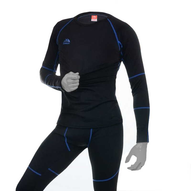 2017 Winter Cycling Shirt Pants Men Compression Tights Underwear Women Cycling Sets Bodybuilding Long Sleeve Base Layer Sets