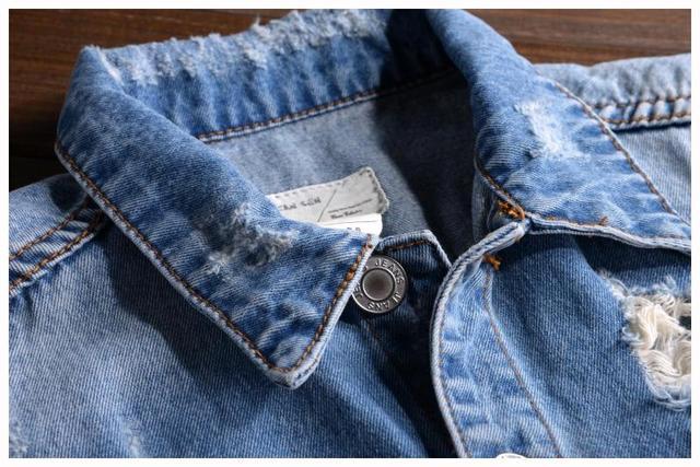 2019 New Men's denim overalls Men Casual jeans Jumpsuits for Men with Holes  Shorts sleeve denim overalls 021407