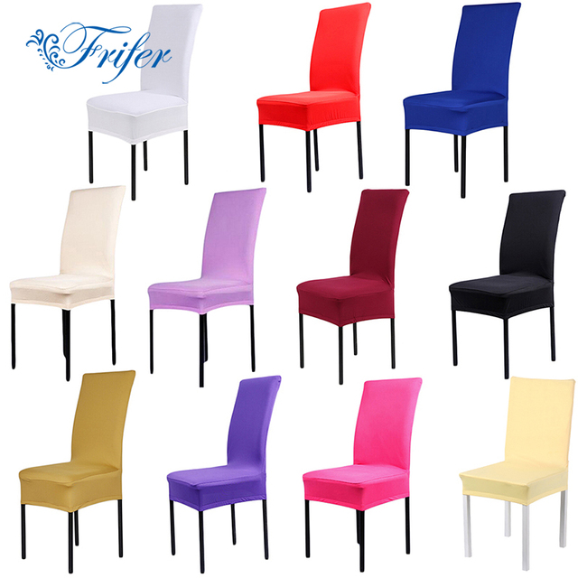 Kitchen Chair Covers Recliner Repair 11color Dining Spandex Stretch Room Protector For Chairs Slipcover Decor