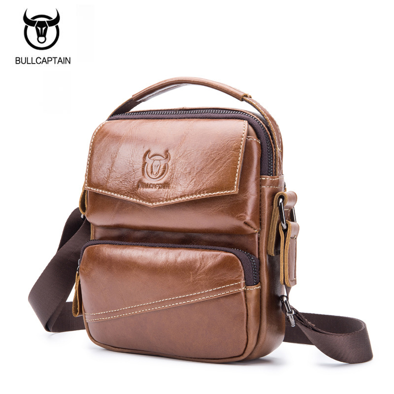 BULLCAPTAIN Cow Genuine Leather Messenger Bags Men Travel Business Crossbody Shoulder Bags for Man Sacoche Homme Bolsa Masculina crazy horse genuine leather messenger bags men travel business crossbody shoulder bag for man sacoche homme bolsa masculina