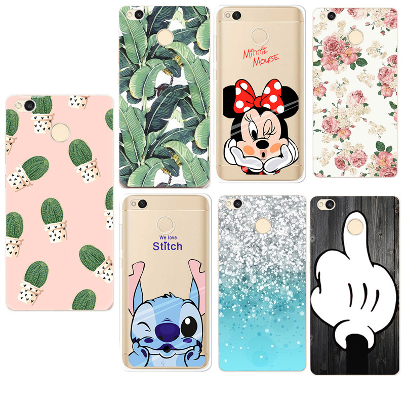 For <font><b>Xiaomi</b></font> Redmi 4x case Silicone Covers Protective Shell <font><b>funda</b></font> Xaomi Redmi4x Note 4 Xiaom <font><b>mi</b></font> <font><b>a1</b></font> Cactus Pattern Soft TPU Case image