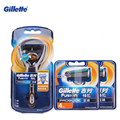 Gillette Fusion Shaving Razor Proglide Flexball Shaving Razor Blades For Men Brands Shavers Safety Razor 1 Holder+9 Blades