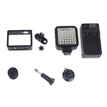 Bright LED Lamp Fill Light with Metal Frame Kit for Xiaomi Yi Sports Action Camera Video Light Camcorder Accessories F14579-A