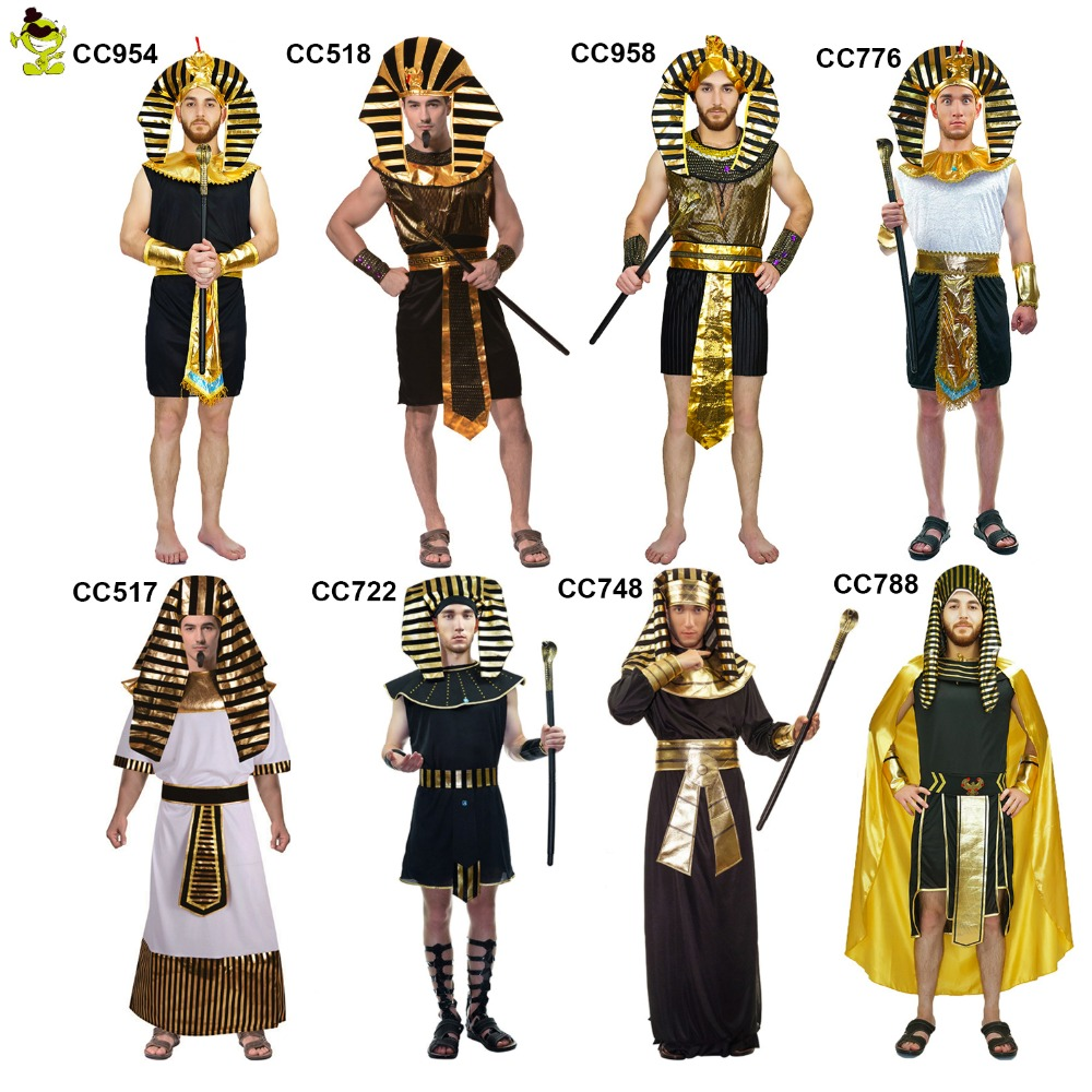 Adult Men Glod Egyptian Pharaoh Costume For Man Halloween Party Costumes Traditional Egypt  Egyptian Costumes Cosplay