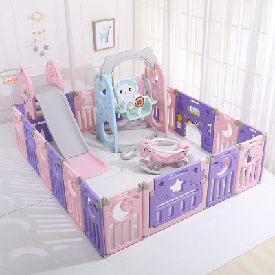 Multi-function Fence 1-4 Years Old Children's Indoor Slide Baby Slide Slide Combination Kindergarten Home Small Swing Toy