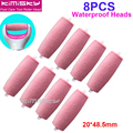 Red 8pcs free shipping foot care tool pedicure tools Roller Head For Scholls Size KIMISKY 20*48.5MM KY822