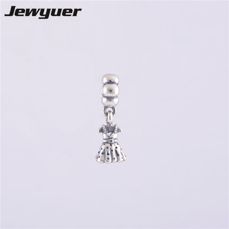 Jewelry & Accessories Charms Candid Dress Dangle Charms 925 Sterling Silver Jewelry Pendant Charm Fit Beads Bracelets Bangles Pendant Diy Making Assessories Da026 Ample Supply And Prompt Delivery
