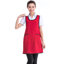 Womens Apron Dress Restaurant Chef Waitress Sleeveless Aprons Home Kitchen Cleaning Cooking Apron 5 Colors