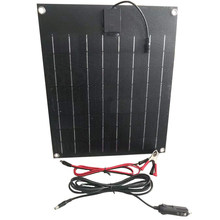 flexible solar panel 20W 18V for 12V battery charger Panel solar 20w home system kits 125*125mm mono solar cell for china sale(China)