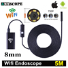 Armgroup 5m Wifi Iphone Endoscope Camera Android 720P Iphone Boroscope Waterproof Camera Endoscopic Android IOS Borescope