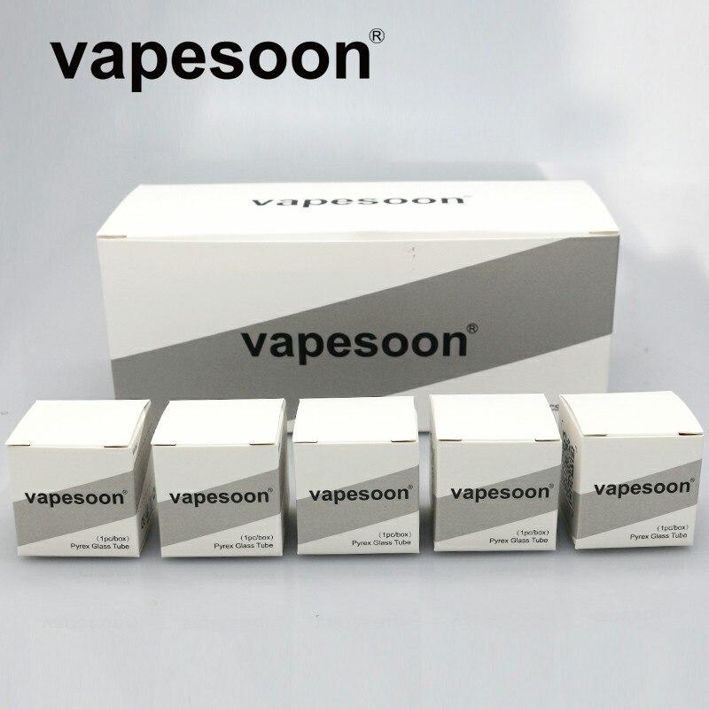20pcs Original Vapesoon Replacement Pyrex Glass Tube For Geekvape Peerless Rdta Tank Atomizer 2ml /4ml Capacity Electronic Cigarette Accessories