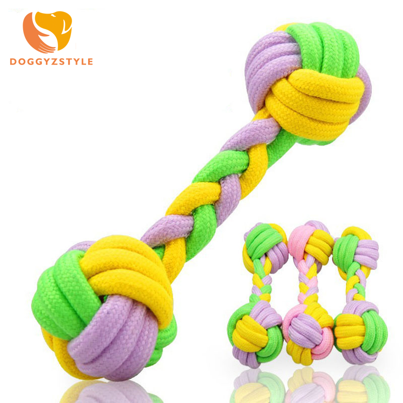 Pet Dog Toys Dogs Chew Teeth Clean Outdoor Training Fun Playing Green Rope Ball Toy For Large Small Dog Cat DOGGYZSTYLE