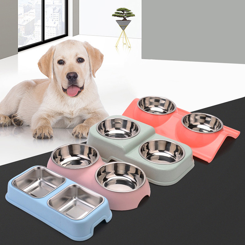 Dog Feeding Detachable Dog Bowl Pet Double Bowls Hanging Cage Dog Dish Feeder For Pet Kitten Puppy Supplies Water Food Container Grade Products According To Quality