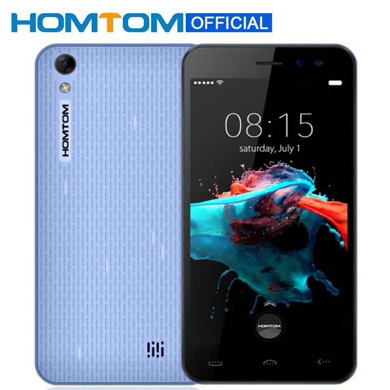 Цена за Оригинал homtom ht16 5.0 дюймов hd экран android 6.0 mtk6580 quad ядро Смартфон 3000 мАч Сотовый Телефон 1 ГБ RAM 8 ГБ ROM Мобильный Телефон