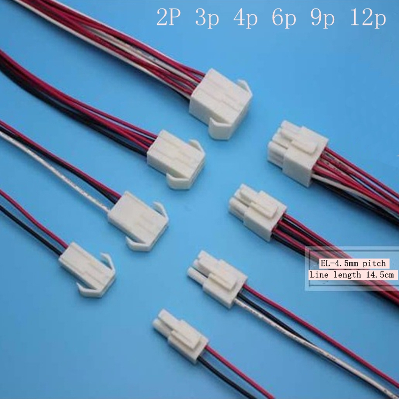 EL-4.5mm pitch 2P 3p 4p 6p 9p 12p harness male and female end of each 14.5cm