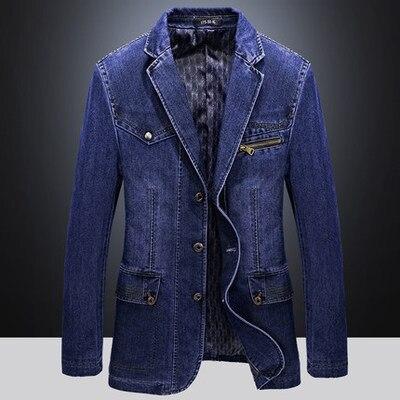 2019 Men's Autumn New Casual Suit Three-button Slim Denim Suit