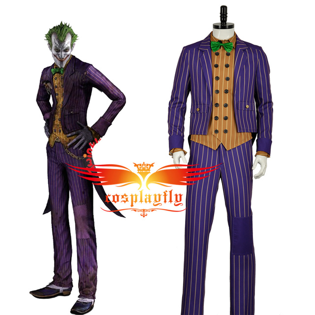 Game Batman Arkham Knight Joker Cosplay Costume Scary Party Custom Made For Adult Full Outfit  sc 1 st  AliExpress.com & Game Batman: Arkham Knight Joker Cosplay Costume Scary Party Custom ...