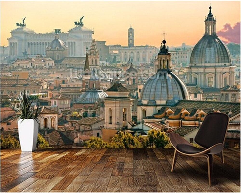 Carta Da Parati Roma us $9.5 62% di sconto|personalizzato moderna carta da parati. roma, 3d  retro photo murale per soggiorno camera da letto ristorante sfondo della  parete