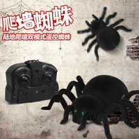 SMRC 878 Remote Control Spider 4CH Soft Scary Plush Creepy Spider Infrared Remote Control Kid Gift Toy Wall Ceiling Glass Climbi
