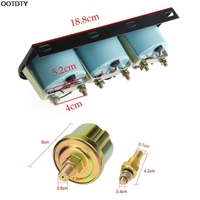 2 52mm Triple Gauge Car Motorcycle Oil Pressure Water Temp Gauge Voltmeter