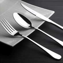 10 Pcs western food dinnerware set top quality stainless steel steak knife fork spoon three-piece