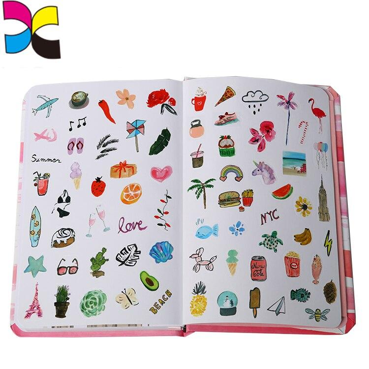2019 Sticker Book Printing Journal Agenda Pocket Customized Printing
