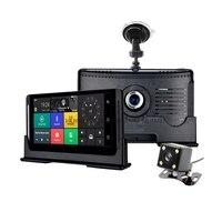4 г автомобиля ADAS DVR GPS 6.86 Android 5.1 автомобиль Камера WI FI 1080 P видео Регистраторы регистратор dashcam DVR БД 24 часа парковки мониторинга