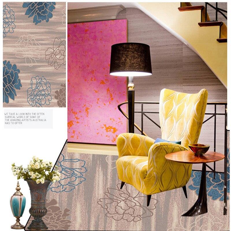 Modern Flowers Carpet Area Rug For Parlor Livingroom Carpet Kitchen ...