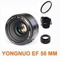 Yn50 yn50mm yongnuo yn 50mm f1.8 lente af enfoque automático lente + hood + uv len + bolsa para canon eos dslr cámaras