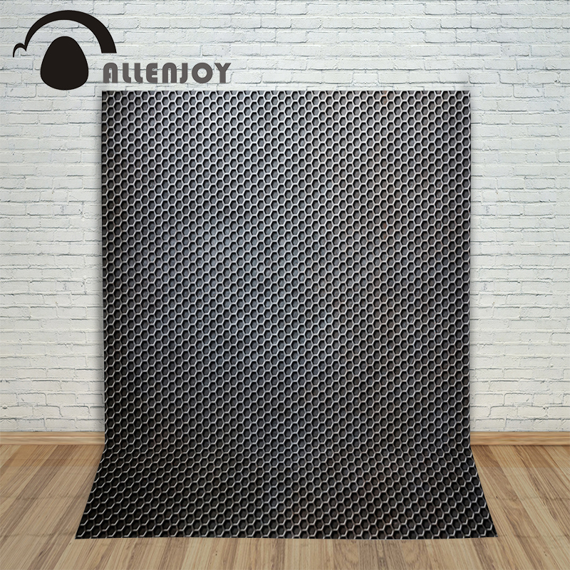 Allenjoy Background photography vinyl backdrop Pattern repeating black metal for a photo shoot photographic camera