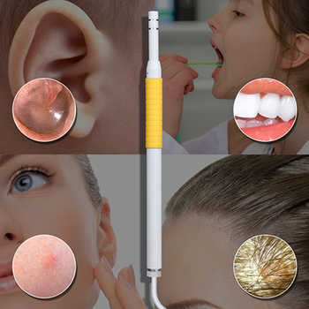 Spetu 5.5MM Otoscopes With 4.3 Inch Disply Ear Cleaning Endoscope HD Visual Ear Spoon Mini Camera Ear Health Care Cleaning Tool