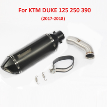 For KTM DUKE 250 390 Motorcycle Exhaust Pipe Mid Tube Muffler with DB Killer Exhaust Systen for KTM 125 250 390 RC390 2017 2018 цены онлайн