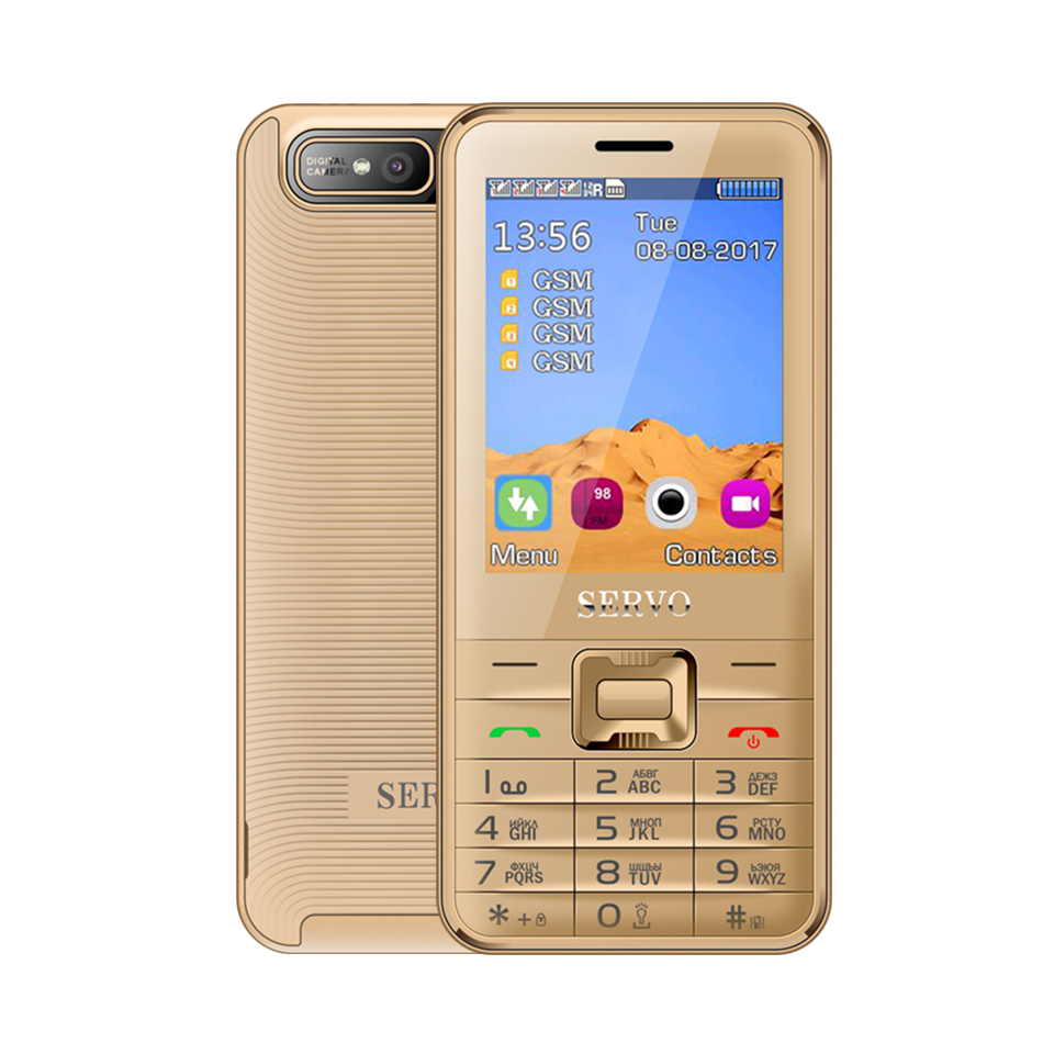 Image 2 - Quad Sim Cell phone Quad Band 2.8 inch 4 SIM cards 4 standby Phone Bluetooth Flashlight MP3 MP4 GPRS Russian Language keyboard-in Cellphones from Cellphones & Telecommunications