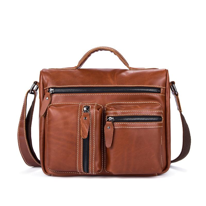 2017 new leather mens handbag fashion shoulder bag business Messenger bag men Casual small Travel bag
