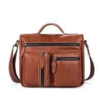 2017 new leather men's handbag fashion shoulder bag business Messenger bag men Casual small Travel bag