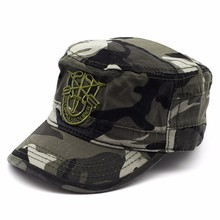 Hat Flat-Top-Hats Military-Cap Camouflage Women for And Curved Brim Embroidery Trucker