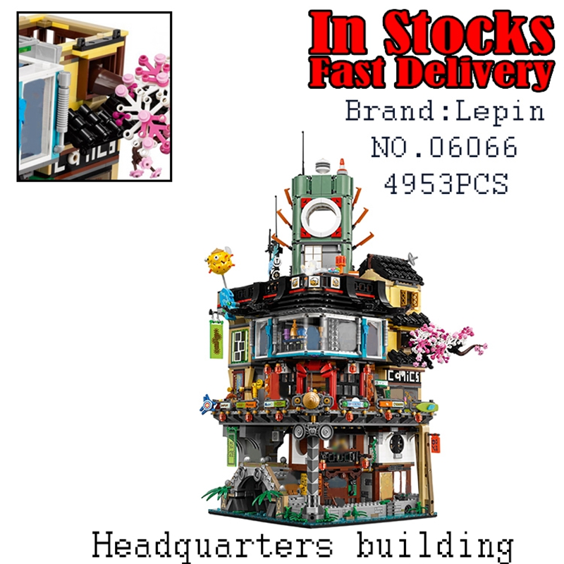 Lepin 06066 Genuine 4932Pcs Building Series The Warrior City Set 70620 Building Blocks Bricks Educational Toys for children Gift lepin 02061 genuine city series the jungle exploration site set 60161 building blocks bricks christmas gift for children 870pcs
