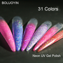 1pc Professional Diamond Glitter UV Nail Gel Polish 8ml Soak Off Sequins Long-lasting Bling Varnish Nails Colors