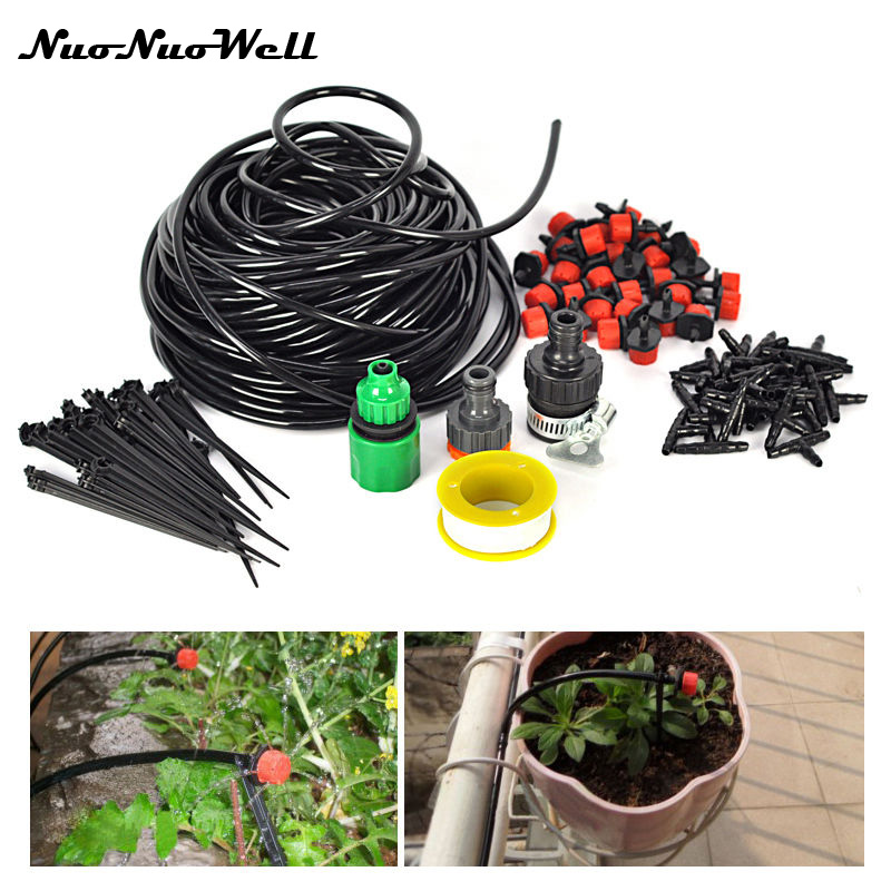 Patio And Potted Plant Drip Irrigation Kit: NuoNuoWell 2017 DIY Micro Drip Irrigation System Plant