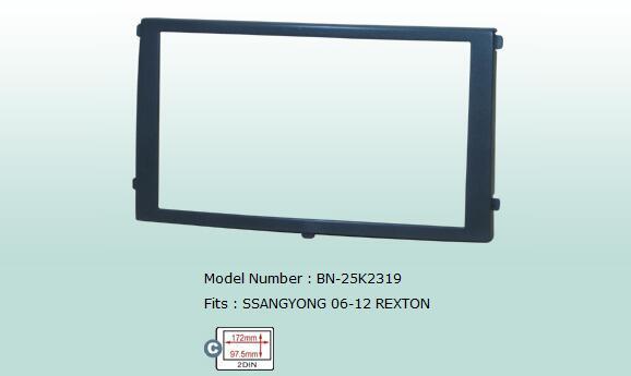 Fascias 2 DIN Special Car Audio Refitting Panel Frame Dash Kit For SSANGYONG REXTON 2006~2012 Retail/Pc Free Shipping