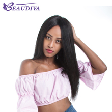BEAUDIVA Full Lace Front Human Hair Wigs With Baby Hair Brazilian Straight Remy Hair Lace Wig For Black Women Full Hand Tied