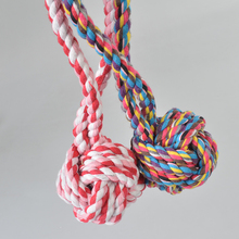 Free shipping Pet Puppy Dog Cotton Rope Pet Dog Toy Chew Ball Tooth Cleaning Dog Puppy Training Toy