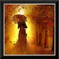 Não impresso cross stitch kits para bordar needlework diy dmc 14ct outono beleza guarda-chuva contados cross-costura bordado