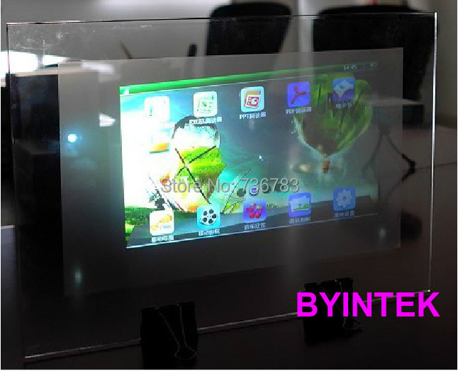 Hologramme publicitaire holographique arrière film adhésif projection 3D projecteur écran film feuille pour fenêtre boutique église hôtel hall - 2