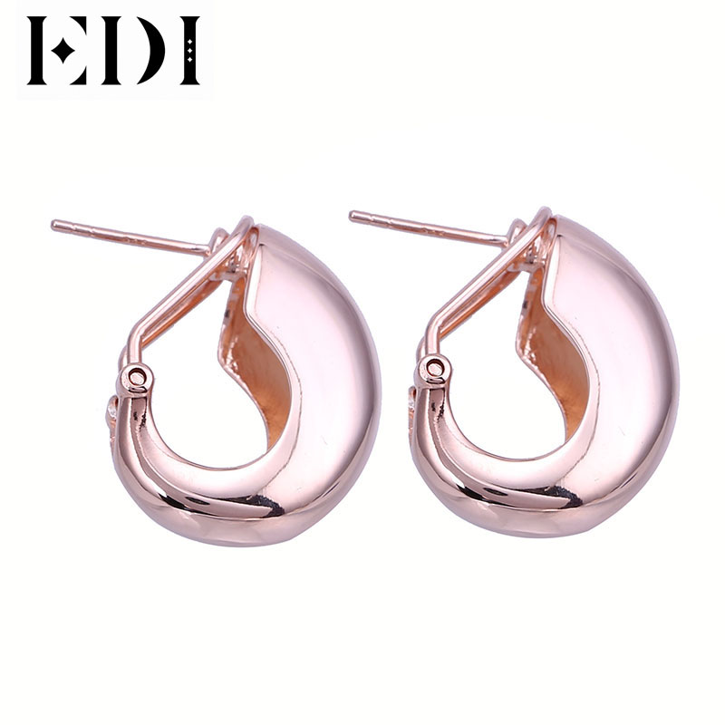 цена EDI New Designer 925 Sterling Silver Clip Earrings Vintage 18K Gold Rose Gold And Sliver Earrings For Women New Year Gifts в интернет-магазинах