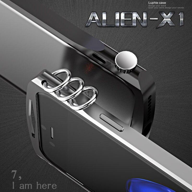 bilder für Luphie Marke Neue Innovative Design Luxus Metallgehäuse Für iPhone 7 Aluminiumstoßkasten Für iPhone 7 Plus Bumper Rahmen kühlen